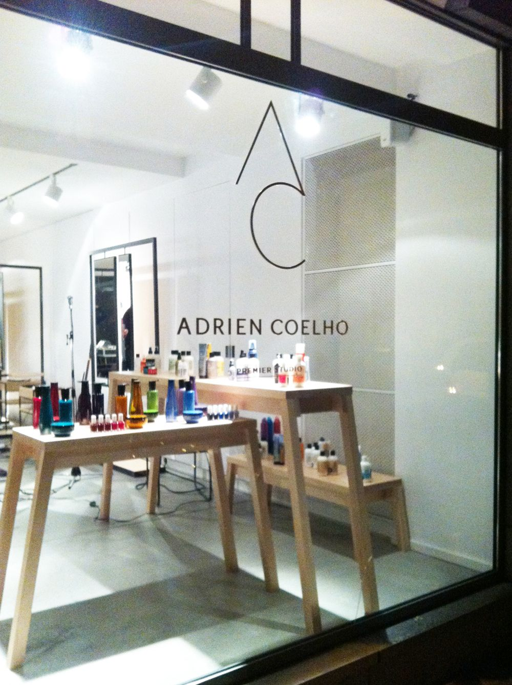 Adrien Coelho logotype identity hairdresser brussels graphic design 2